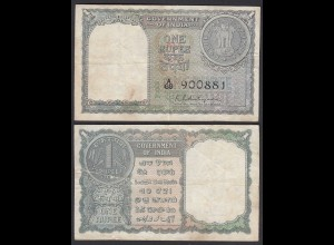 Indien - India 1 Rupee Banknote 1951 Pick 52 F (4) (25263