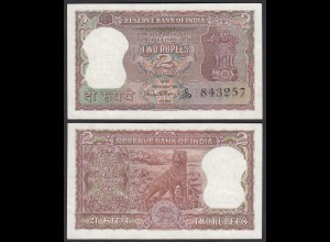 Indien - India 2 Rupees 1962 Pick 51a sig 75 XF (2) (25268