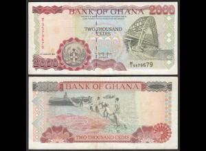 Ghana 2000 Cedis Banknote 1995 Pick 30b VF (3) (25278