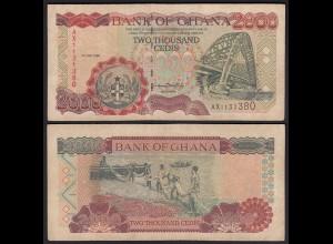 Ghana 2000 Cedis Banknote 1999 Pick 33d VF (3) (25279