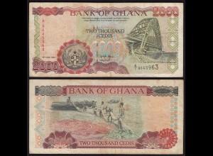 Ghana 2000 Cedis Banknote 1994 Pick 30a F/VF (3/4) (25280
