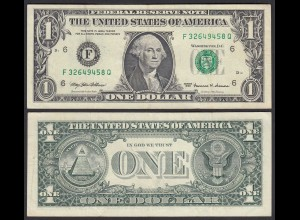 USA 1 $ Banknote Serie 1999 Atlanta/Georgia Pick 474 VF (3) (25282