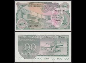 Kongo - Congo 100 Francs 19.06.1963 Pick 1a gutes VF (3) (25304