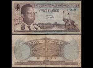Kongo - Congo 100 Francs 1.02.1962 Pick 6a VG (5) (25305