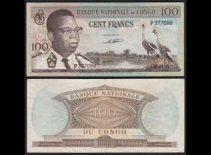 Kongo - Congo 100 Francs 15.12.1961 Pick 6a VF (3) (25306