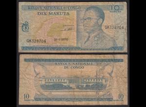Kongo - Congo 10 Makuta 21.1.1970 Pick 9a G (6) (25309