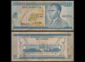 Kongo - Congo 10 Makuta 2.1.1967 Pick 9a F (4) (25310