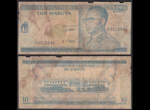 Kongo - Congo 10 Makuta 2.1.1967 Pick 9a G (6) (25312