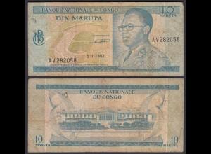 Kongo - Congo 10 Makuta 2.1.1967 Pick 9a VG (5) (25313