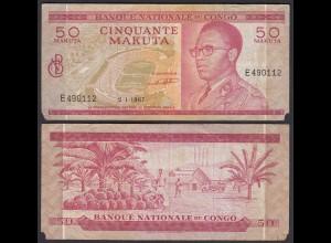 Kongo - Congo 50 Makuta 2.1.1967 Pick 11a G (6) (25314
