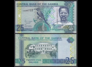 Gambia 25 Dalasi Banknote ND (1996) Pick 18a UNC (1) (25315
