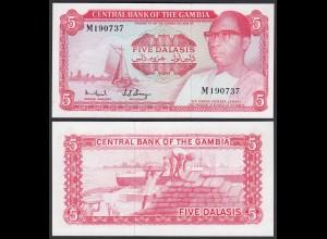 Gambia 5 Dalasi Banknote ND (1972-86) Pick 5c UNC (1) (25316