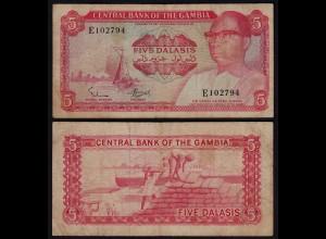 Gambia 5 Dalasi Banknote ND (1972-86) Pick 5a F (4) (25318