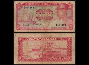 Gambia 5 Dalasi Banknote ND (1987-90) Pick 9a VG (5) (25319