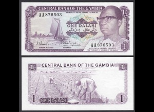 Gambia 1 Dalasi Banknote ND (1971-87) Pick 4g UNC (1) (25321