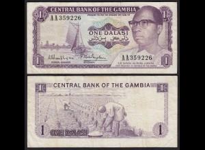 Gambia 1 Dalasi Banknote ND (1971-87) Pick 4g F (4) (25322