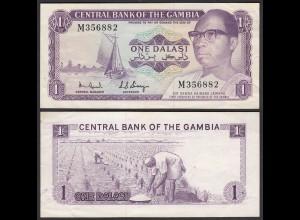 Gambia 1 Dalasi Banknote ND (1971-87) Pick 4e VF+ (3+) (25323