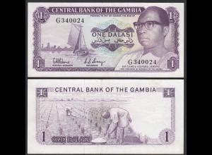 Gambia 1 Dalasi Banknote ND (1971-87) Pick 4d XF- (2-) sig 5 (25324