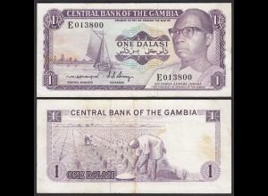 Gambia 1 Dalasi Banknote ND (1971-87) Pick 4c VF (3) sig 4 (25325