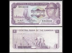 Gambia 1 Dalasi Banknote ND (1971-87) Pick 4f VF (3) sig 7 (25327