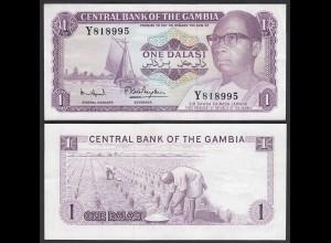 Gambia 1 Dalasi Banknote ND (1971-87) Pick 4f XF (2) sig 7 (25328