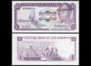Gambia 1 Dalasi Banknote ND (1971-87) Pick 4f UNC (1) sig 7 (25330