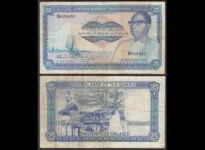 Gambia 25 Dalasi Banknote ND (1987-90) Pick 11a F (4) sig 8 (25331