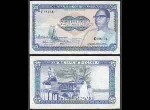 Gambia 25 Dalasi Banknote ND (1987-90) Pick 11a VF (3) sig 8 (25332