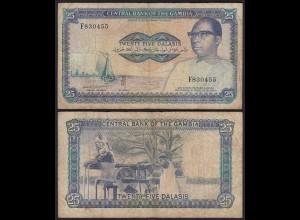 Gambia 25 Dalasi Banknote ND (1987-90) Pick 11c VG (5) sig 10 (25333