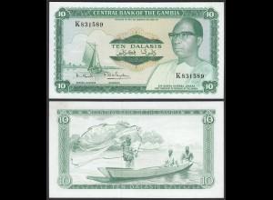 Gambia 10 Dalasi Banknote ND (1972-86) Pick 6c UNC (1) sig 7 (25334