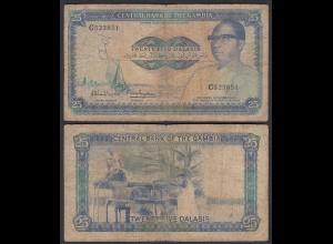 Gambia 25 Dalasi Banknote ND (1987-90) Pick 11a G (6) sig 8 (25335