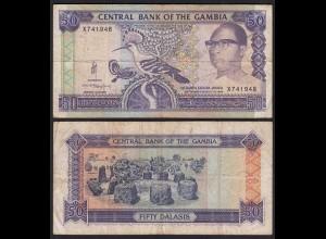 Gambia 50 Dalasi Banknote ND (1989-95) Pick 15a F (4) sig 10 (25337
