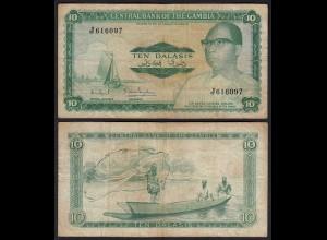 Gambia 10 Dalasi Banknote ND (1972-86) Pick 6c VG (5) sig 7 (25338