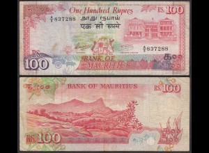 Mauritius - 100 Rupees Banknote (1986) Pick 38 VF- (3-) (25353