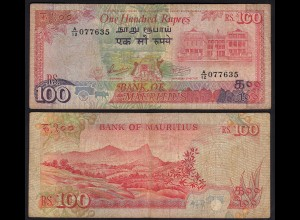 Mauritius - 100 Rupees Banknote (1986) Pick 38 F (4) (25354