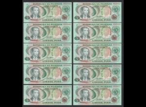 PHILIPPINEN - PHILIPPINES 10 Stück á 5 Piso (1978) Pick 160d UNC (1) (89020