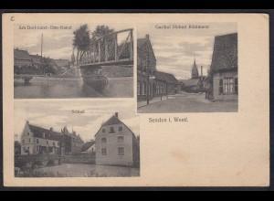AK Senden Westfalen bei Münster Coesfeld Gasthof Kanal Schloß (17366