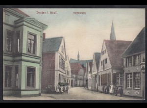 AK Senden Westfalen Westfalen 1917 Herrenstrasse Color (17369