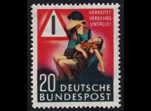 BRD - Bund - Mi-Nr. 162 postfrisch 1953 Verkehrsunfall-Verhütung KW 18,00 €