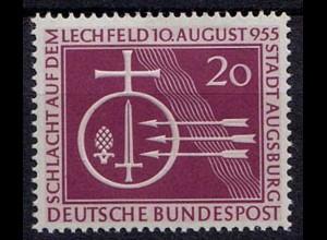 BRD - Bund Mi-Nr. 216 postfrisch 1955 Schlacht Lechfeld KW 10,00 €