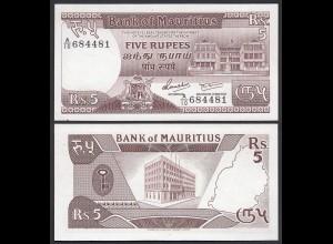 MAURITIUS - 5 Rupees Banknote 1985 Pick 34 aUNC (1-) (25375