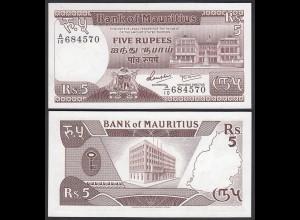 MAURITIUS - 5 Rupees Banknote 1985 Pick 34 UNC (1) (25376