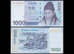 KOREA 1000 Won Banknote 2007 Pick 54a UNC (1) (25381