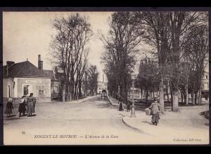 AK Nogent-le-Rotrou L´Avenue de la Gare FRANCE (7590