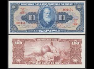 Brasilien - Brazil 100 Cruzados 1964 Pick 170c UNC (1) Serien Nr.!! (25397