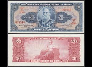Brasilien - Brazil 20 Cruzados 1963 Pick 168b sig.12 UNC (1) (25399