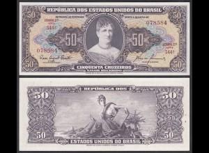 Brasilien - Brazil 1000 Cruzaros (1954/61) Pick 161c aUNC (1-) Sig.8 (25402