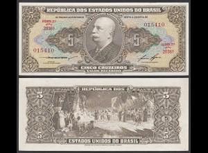 Brasilien - Brazil 5 Cruzaros (1953/59) Pick 158d UNC (1) Sig.6 (25407