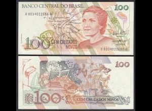 Brasilien - Brazil 100 Cruzaros (1989) Pick 220b XF (2) Sig.27 (25408
