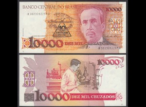 Brasilien - Brazil 10 Cruzado Novo (1989) Pick 218a UNC (1) Sig.26 (25409